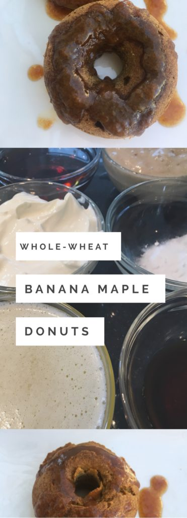 Healthy Banana Whole Wheat Baked Donuts | www.ketchupwithlucas.com