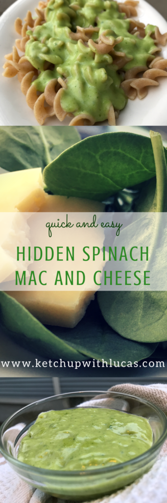Healthy Spinach Mac 'n Cheese | www.ketchupwithlucas.com